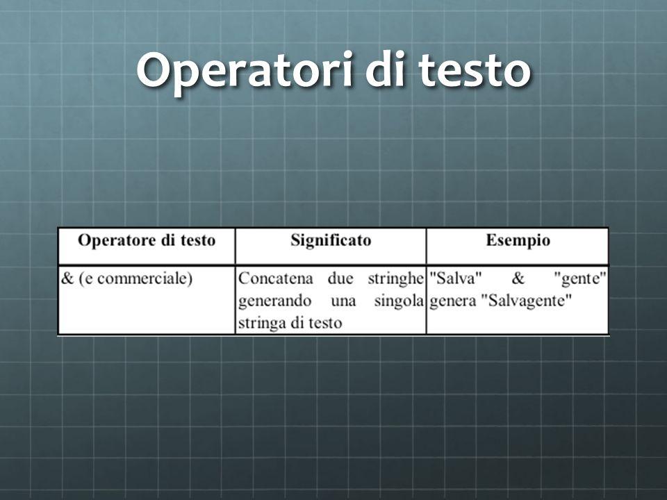 Operatori di testo