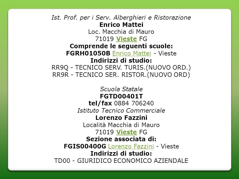 Ist. Prof. per i Serv. Alberghieri e Ristorazione Enrico Mattei Loc.