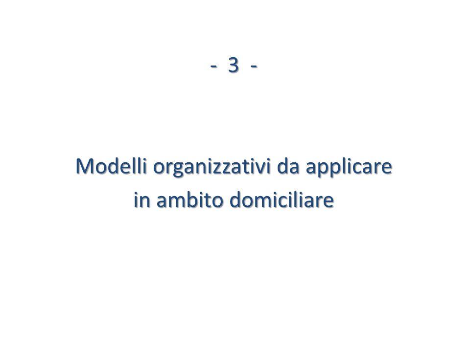 -3 - Modelli organizzativi da applicare in ambito domiciliare