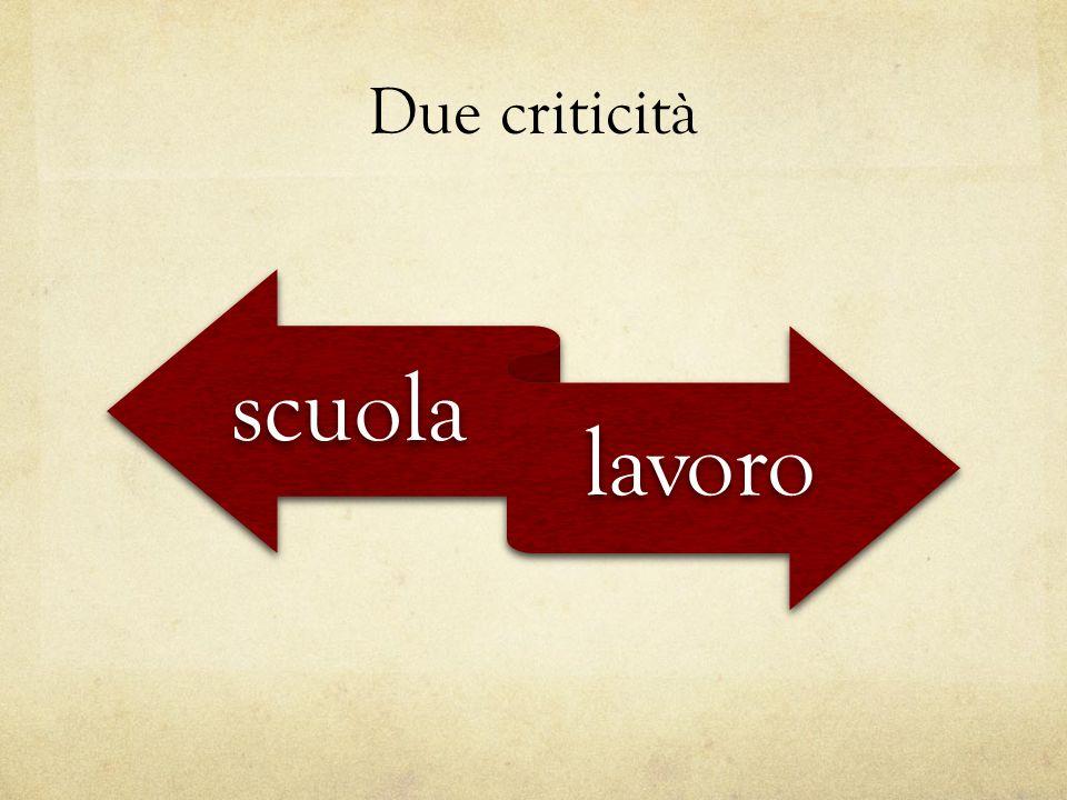 Due criticità scuola lavoro