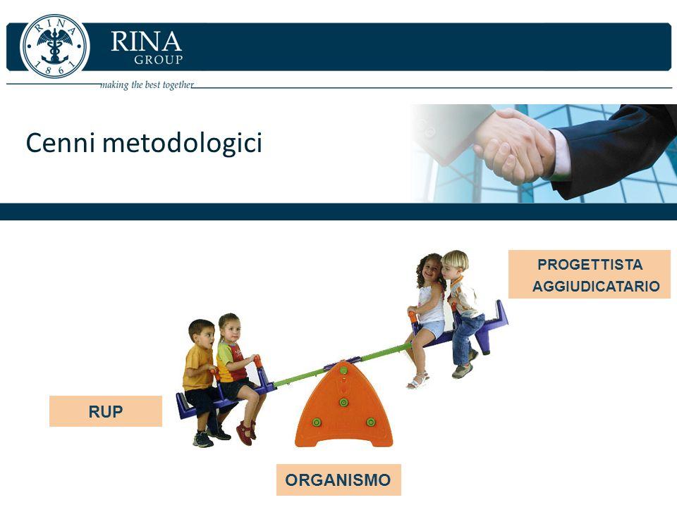 Cenni metodologici RUP PROGETTISTA AGGIUDICATARIO ORGANISMO