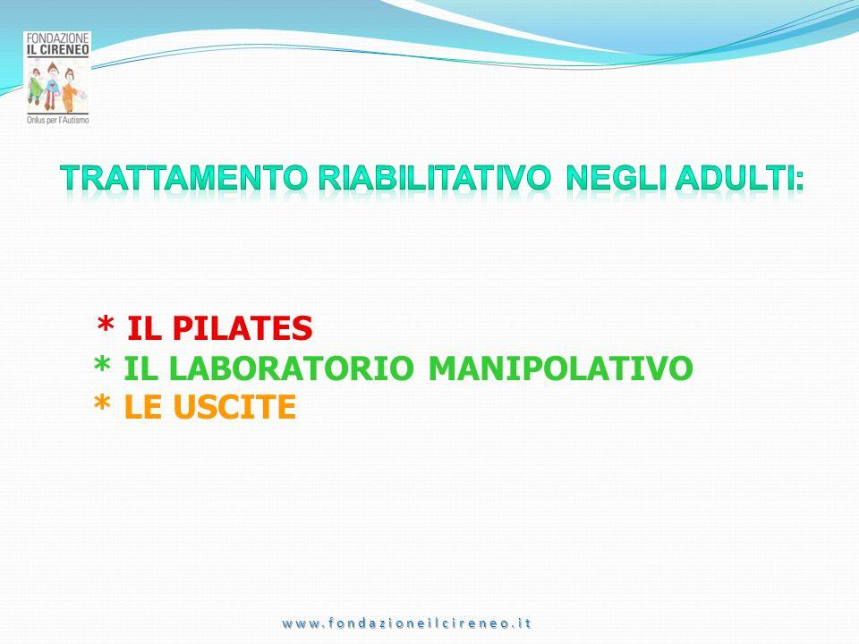 * IL PILATES * IL LABORATORIO MANIPOLATIVO * LE USCITE www.fondazioneilcireneo.it