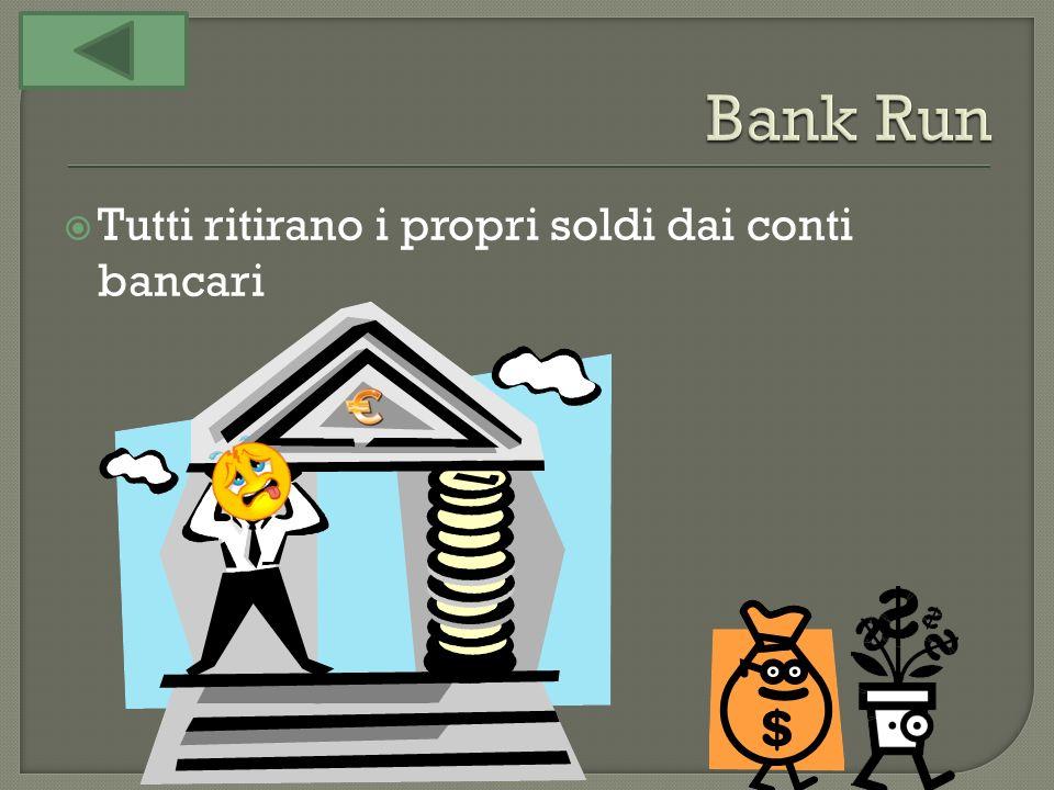 Tutti ritirano i propri soldi dai conti bancari