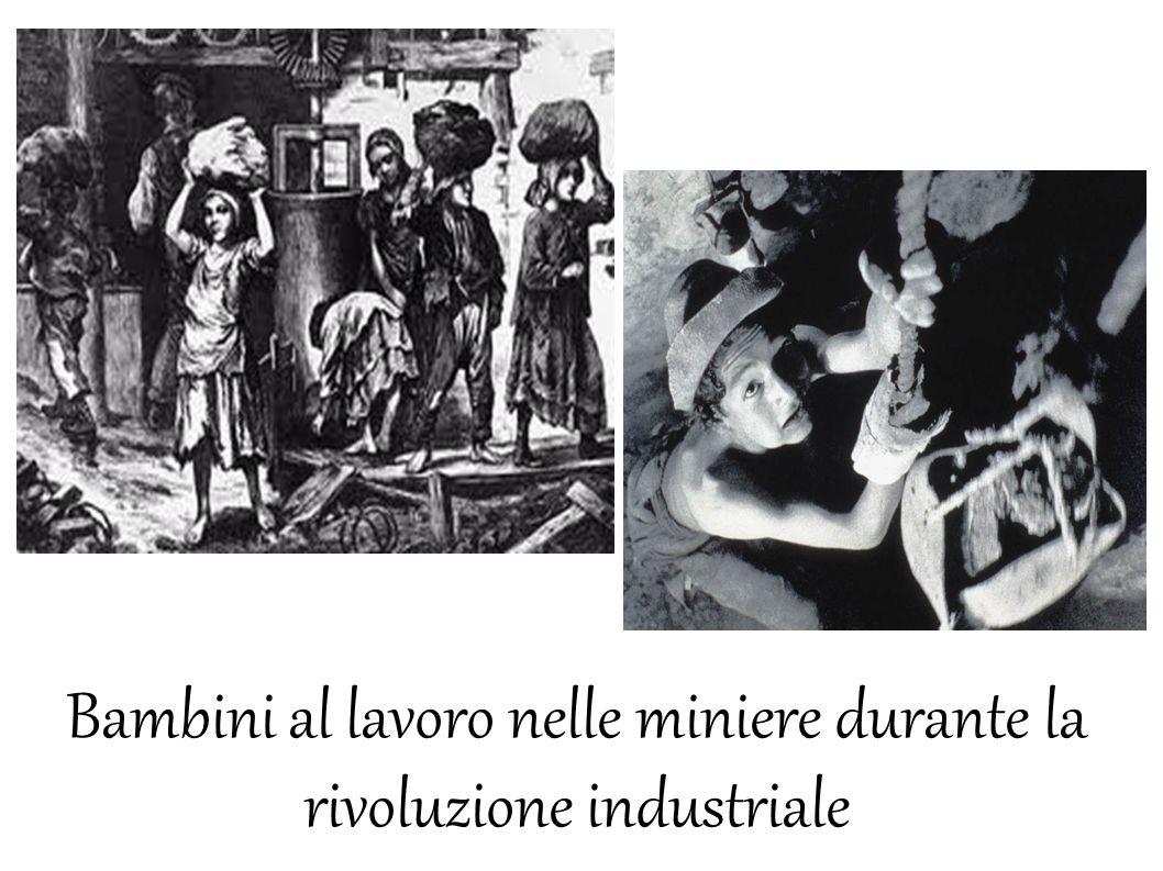 Bambini al lavoro nelle miniere durante la rivoluzione industriale