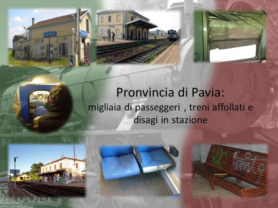 Pronvincia di Pavia: migliaia di passeggeri, treni affollati e disagi in stazione
