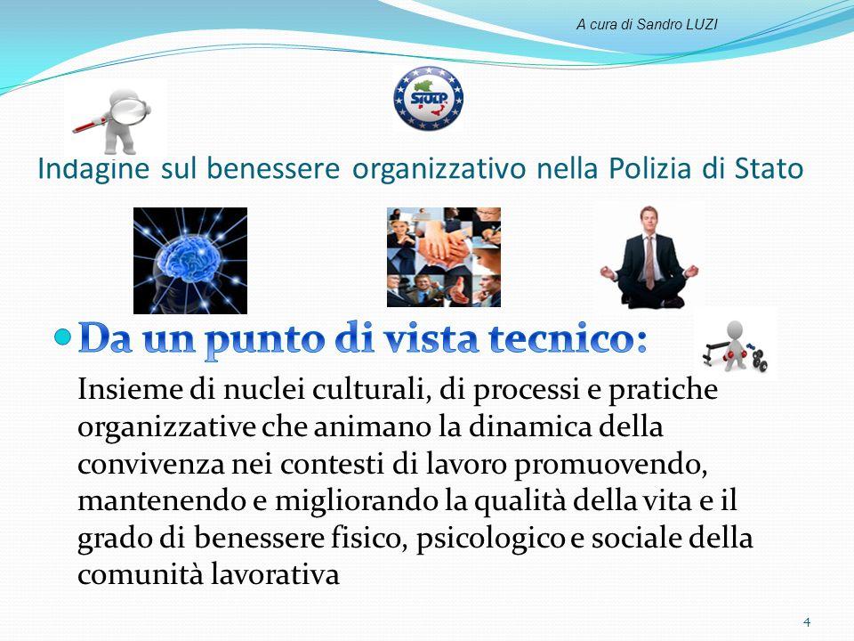Indagine sul benessere organizzativo nella Polizia di Stato 4 A cura di Sandro LUZI