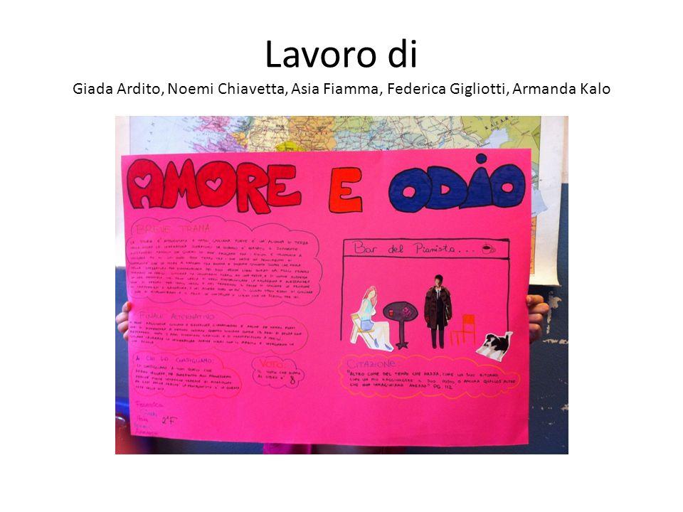 Lavoro di Martina Grifa, Chiara Meroni, Gaia Mastella, Roberta Spagnolo, Ilaria Zito