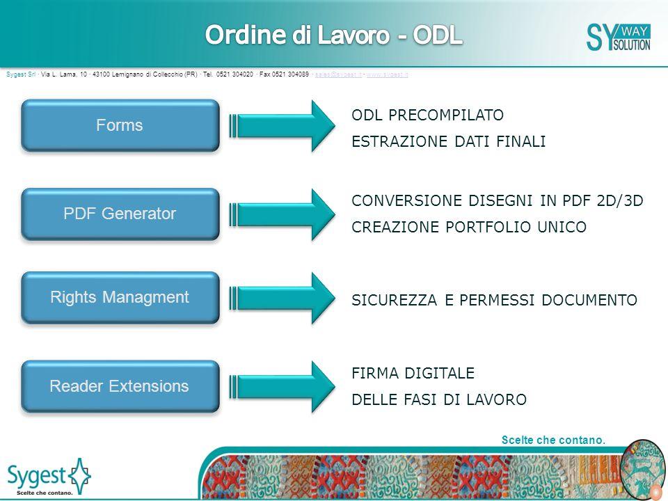 5 Scelte che contano.Sygest Srl · Via L. Lama, 10 · 43100 Lemignano di Collecchio (PR) · Tel.