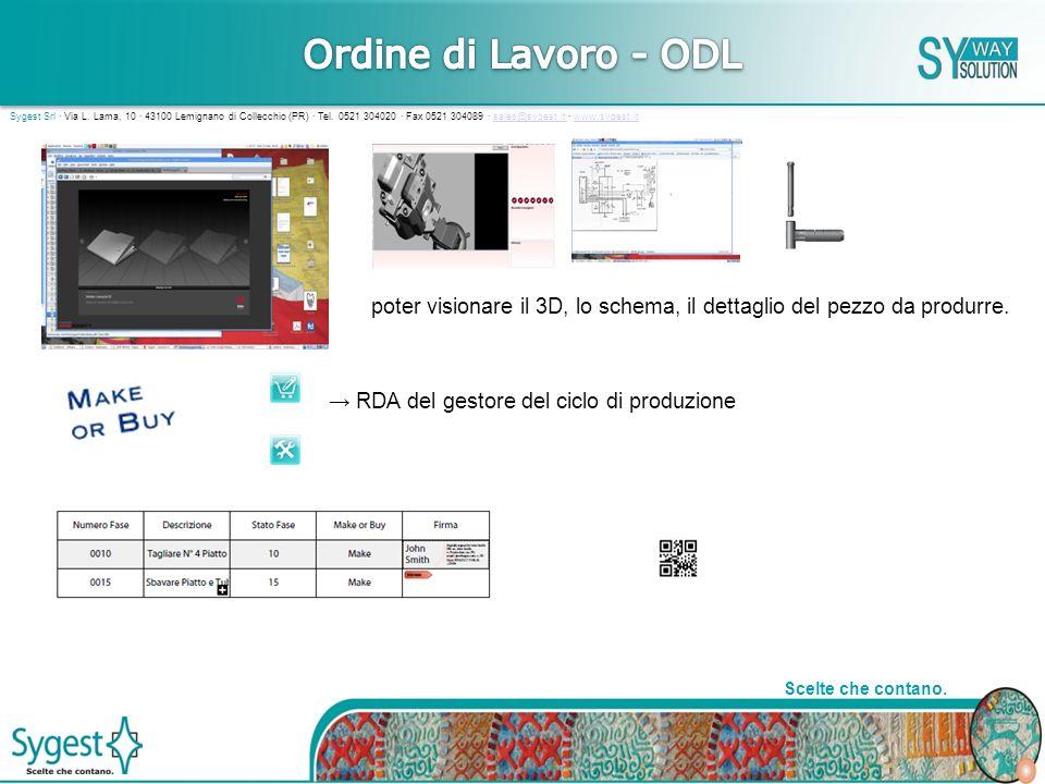 16 Scelte che contano.Sygest Srl · Via L. Lama, 10 · 43100 Lemignano di Collecchio (PR) · Tel.