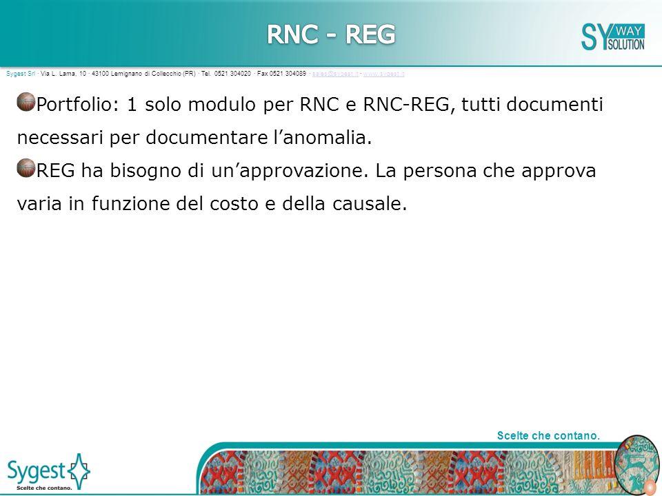 9 Scelte che contano. Sygest Srl · Via L. Lama, 10 · 43100 Lemignano di Collecchio (PR) · Tel.