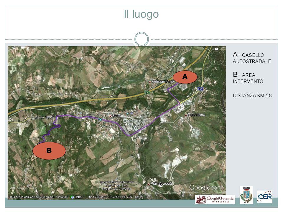 Il luogo B A A- CASELLO AUTOSTRADALE B- AREA INTERVENTO DISTANZA KM.4,8