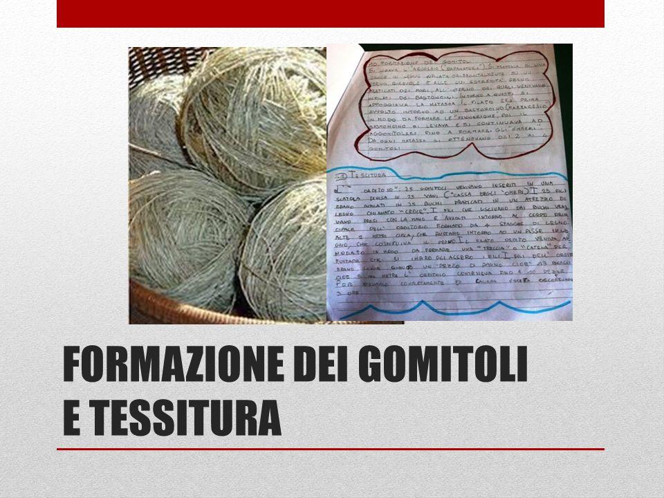 FORMAZIONE DEI GOMITOLI E TESSITURA