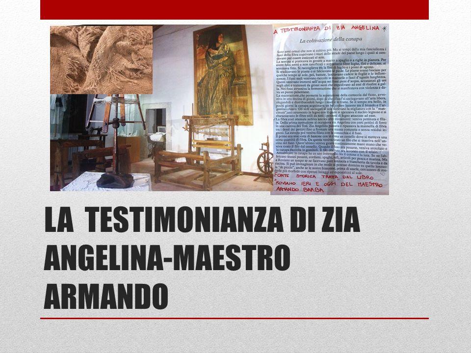 LA TESTIMONIANZA DI ZIA ANGELINA-MAESTRO ARMANDO