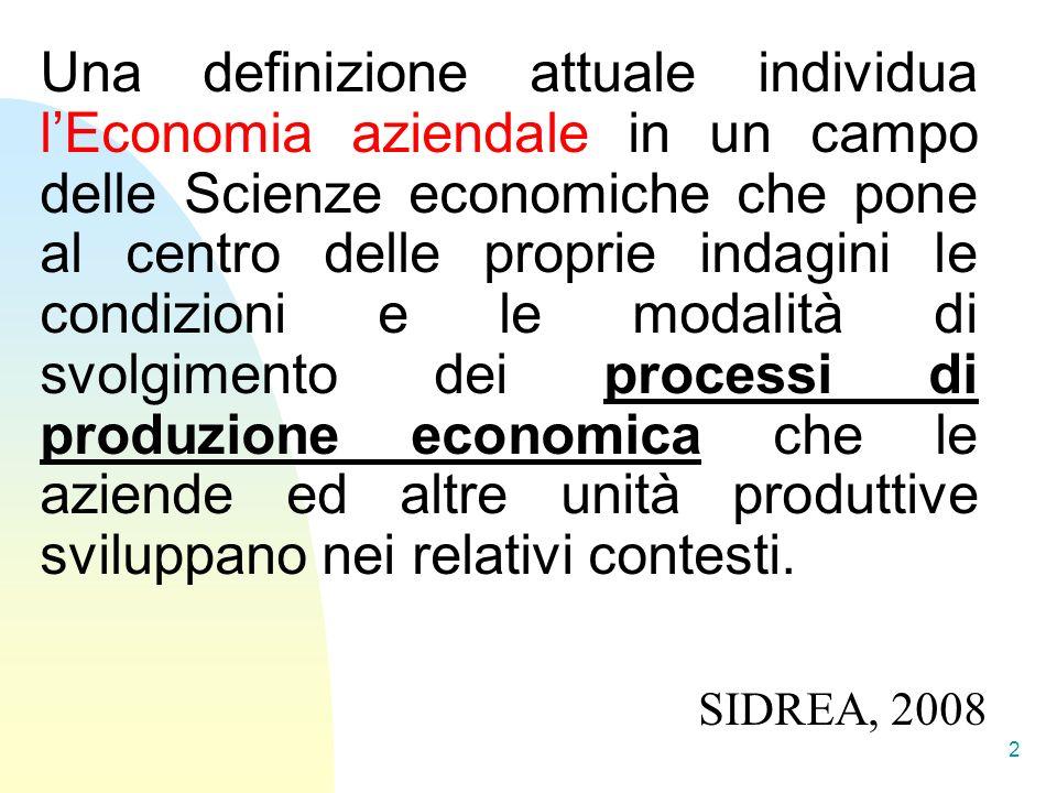 ORIENTAMENTO STRATEGICO DI FONDO perché essere azienda dove essere azienda come essere azienda Cosa si pone al centro delle indagini di Economia Aziendale.