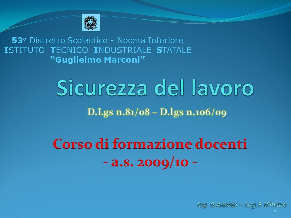 53° Distretto Scolastico - Nocera Inferiore ISTITUTO TECNICO INDUSTRIALE STATALE Guglielmo Marconi 1