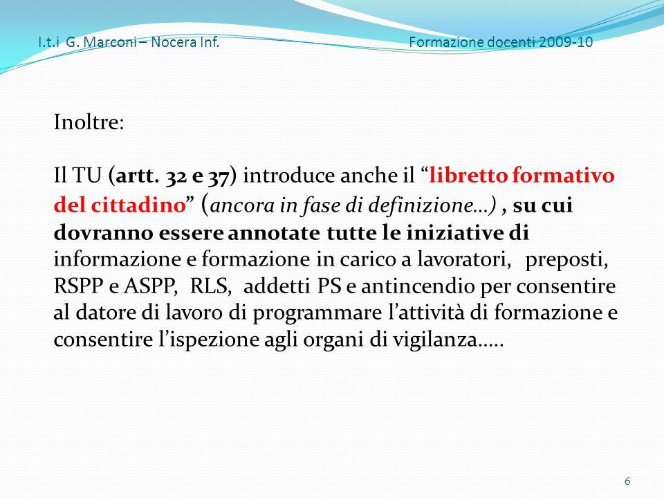 Inoltre: Il TU (artt.