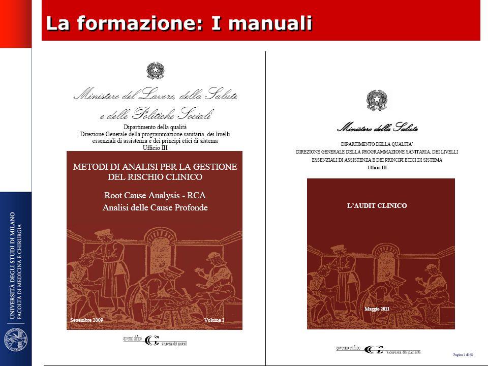 La formazione: I manuali