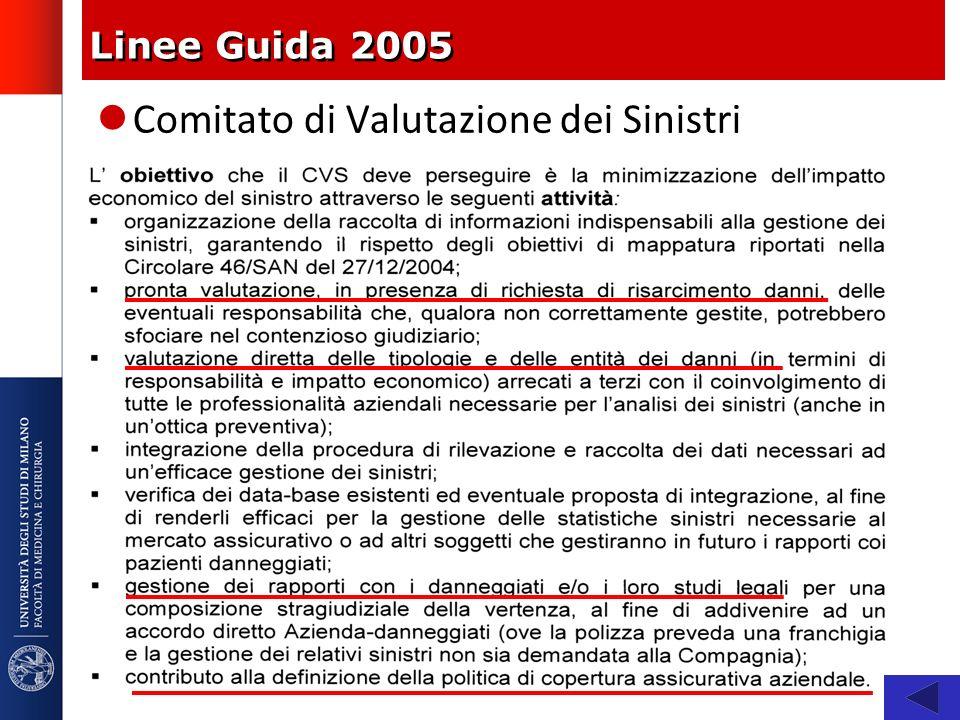 Linee Guida 2005 Comitato di Valutazione dei Sinistri