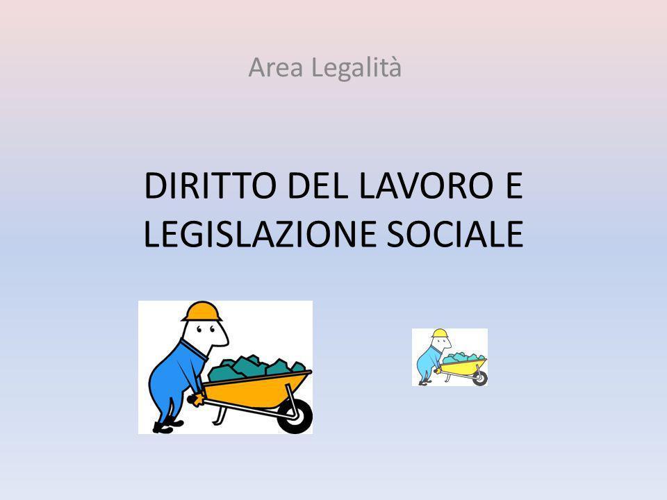 DIRITTO DEL LAVORO E LEGISLAZIONE SOCIALE Area Legalità