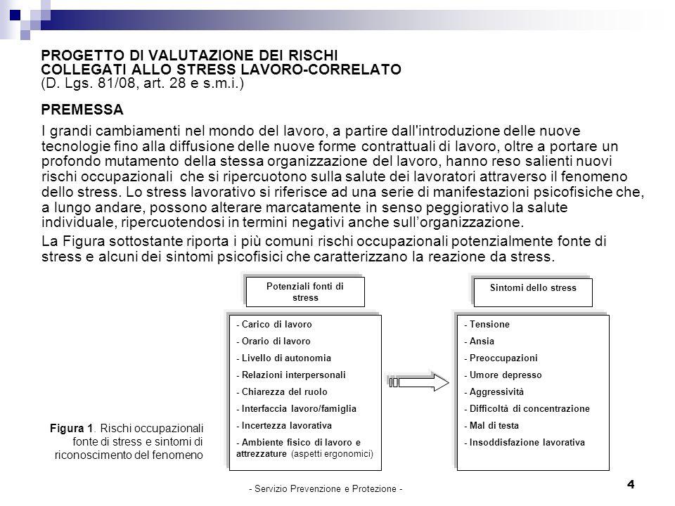 4 PROGETTO DI VALUTAZIONE DEI RISCHI COLLEGATI ALLO STRESS LAVORO-CORRELATO (D.
