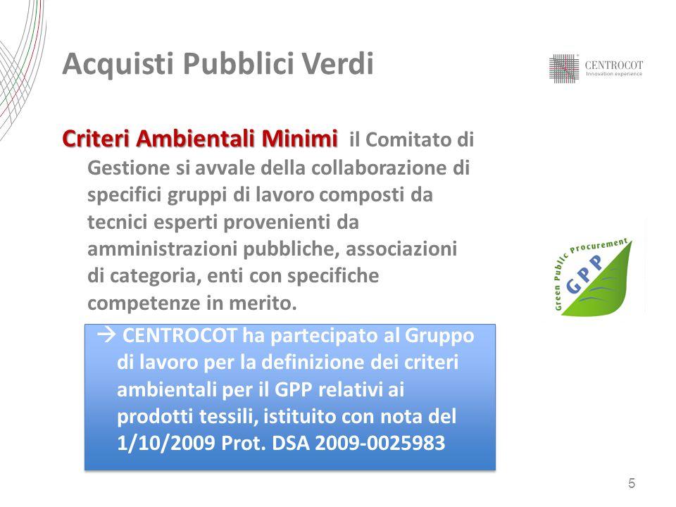 Acquisti Pubblici Verdi Criteri ambientali minimi Criteri ambientali minimi adottati con DM 22 febbraio 2011 (G.U.