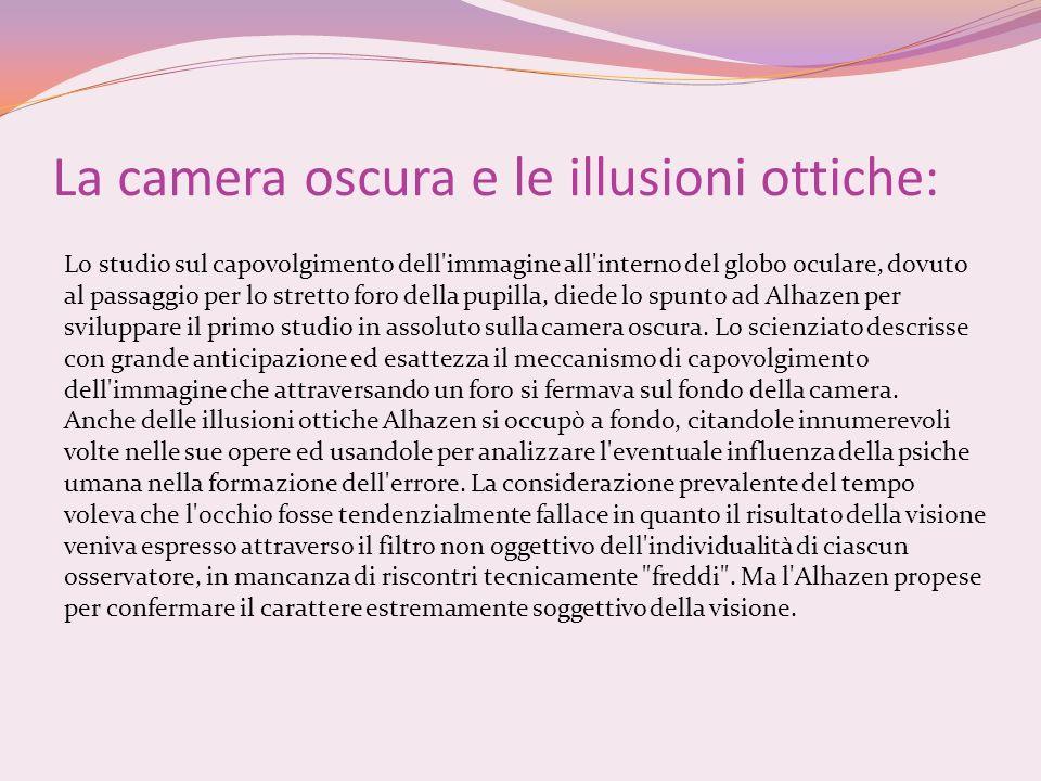La camera oscura e le illusioni ottiche: Lo studio sul capovolgimento dell'immagine all'interno del globo oculare, dovuto al passaggio per lo stretto