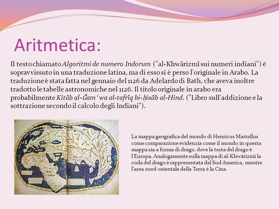 Aritmetica: Il testo chiamato Algoritmi de numero Indorum (