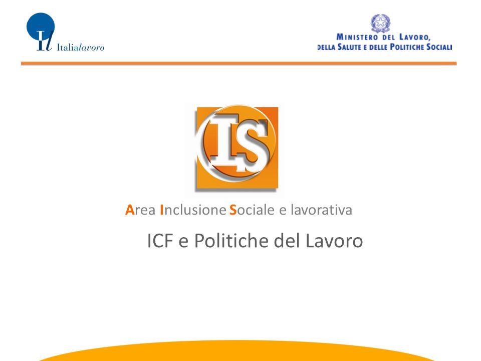 ICF e Politiche del Lavoro Area Inclusione Sociale e lavorativa