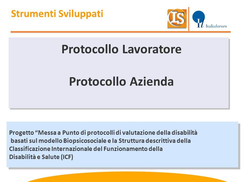 Progetto Messa a Punto di protocolli di valutazione della disabilità basati sul modello Biopsicosociale e la Struttura descrittiva della Classificazio