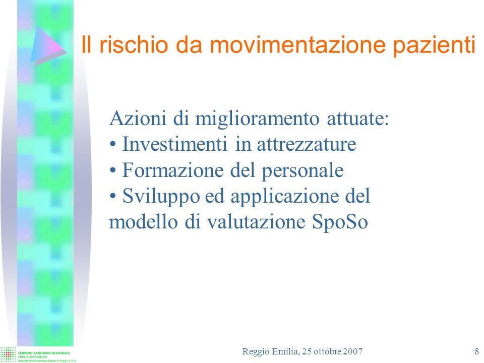 Reggio Emilia, 25 ottobre 2007 9 La riduzione stimata per il rischio MP