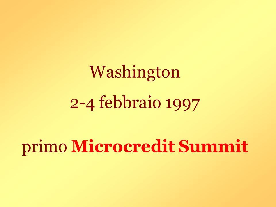 Washington 2-4 febbraio 1997 primo Microcredit Summit