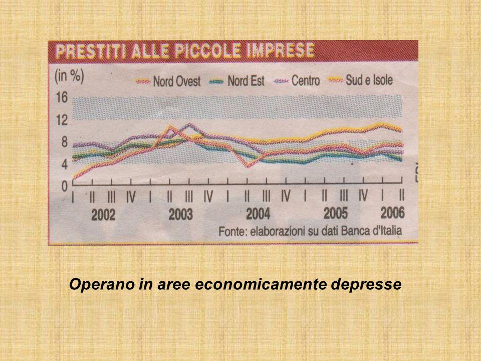 Operano in aree economicamente depresse