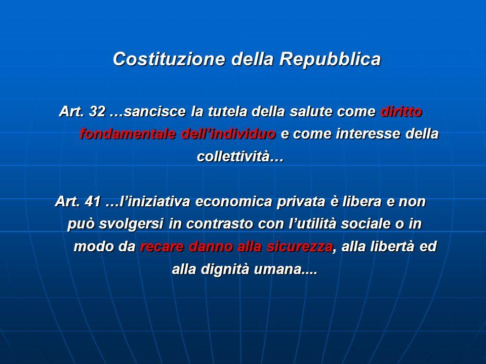 Costituzione della Repubblica Costituzione della Repubblica Art.