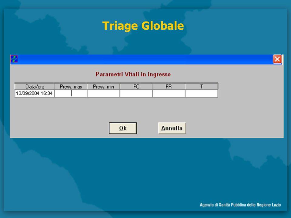 Triage di Bancone automatizzato Permette lattribuzione automatica del triage con un algoritmo predefinito
