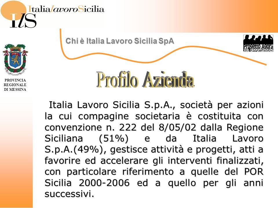 Italia Lavoro Sicilia S.p.A., società per azioni la cui compagine societaria è costituita con convenzione n.
