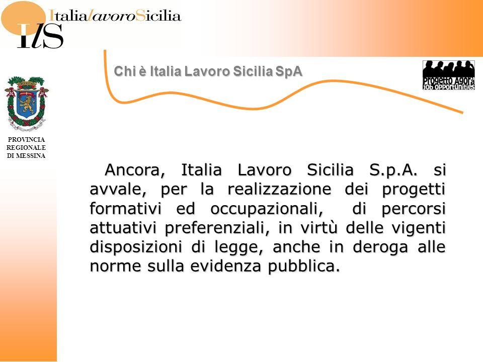 Ancora, Italia Lavoro Sicilia S.p.A.