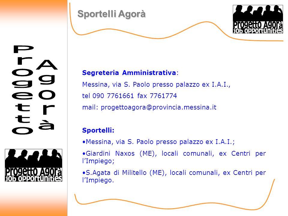Sportelli Agorà Segreteria Amministrativa: Messina, via S.