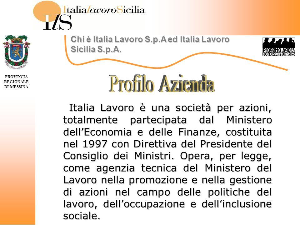 PROVINCIA REGIONALE DI MESSINA Progetto Nazionali di ITALIA LAVORO SPA