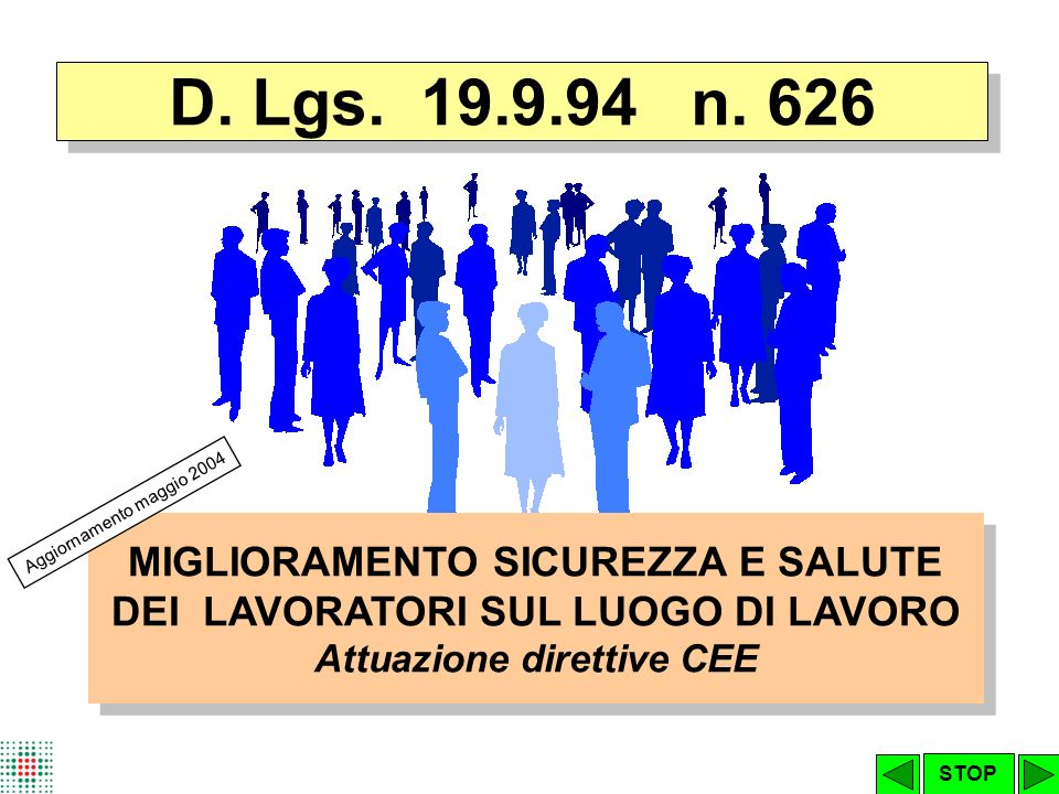 D.Lgs.626/94 TITOLO IV – DISPOSITIVI DI PROTEZIONE INDIVIDUALE D.Lgs.
