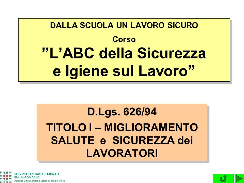 D.Lgs.493/96 SEGNALETICA DI SICUREZZA D.Lgs.