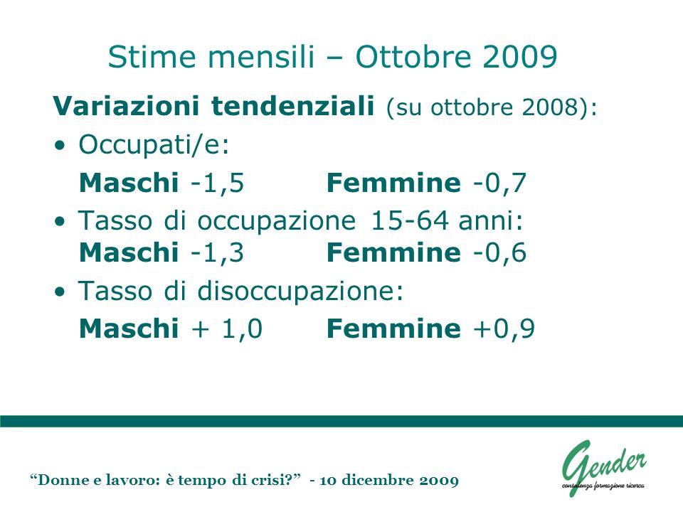 Donne e lavoro: è tempo di crisi.