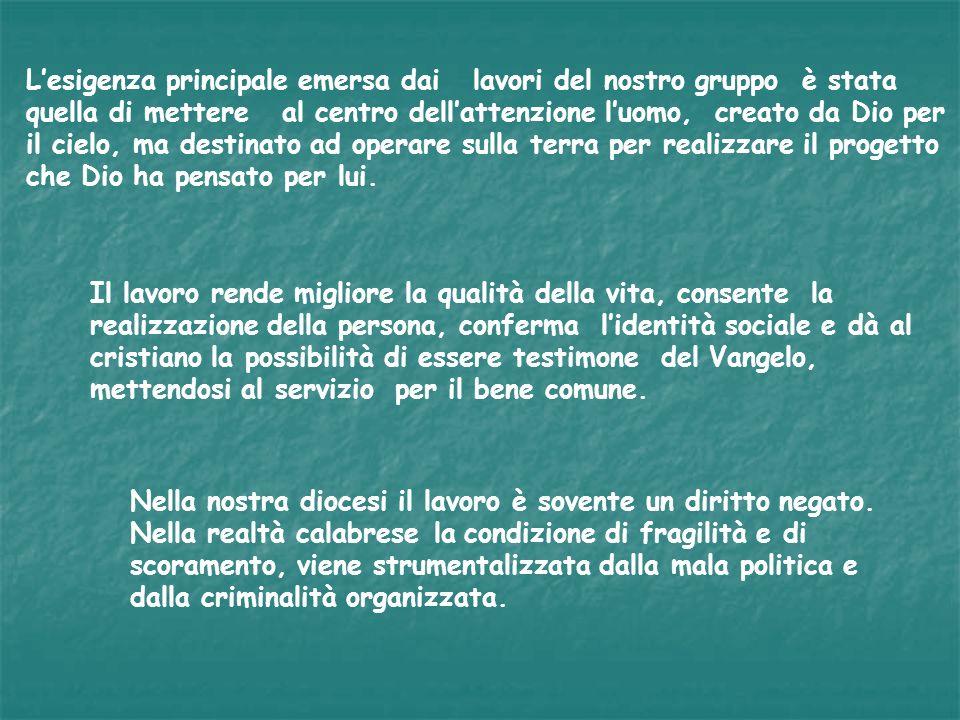 Vogliamo proporre nellallegato 3 una griglia per la riflessione personale e nellallegato 4 una per la riflessione in parrocchia.