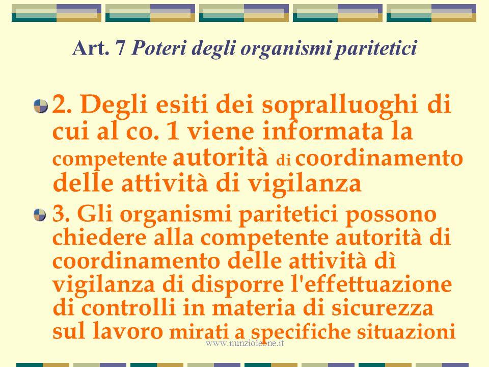 www.nunzioleone.it Art. 7 Poteri degli organismi paritetici 2.