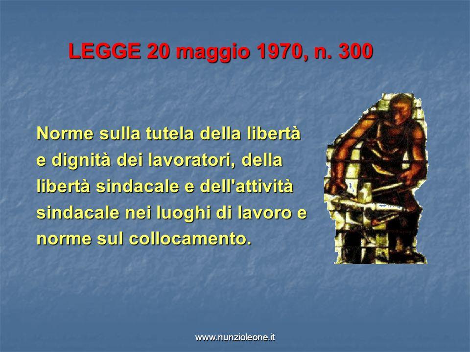www.nunzioleone.it LEGGE 20 maggio 1970, n.