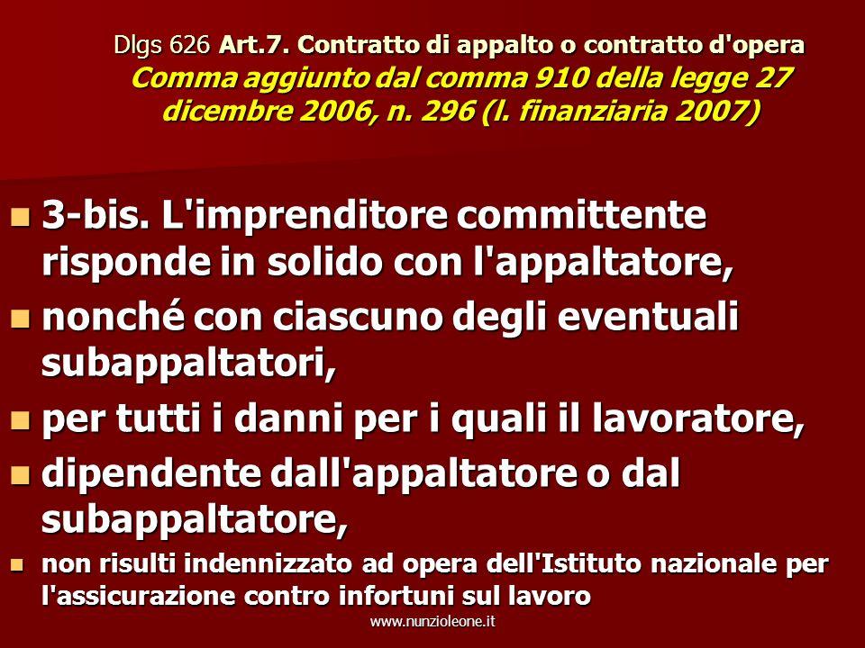 www.nunzioleone.it Dlgs 626 Art.7.