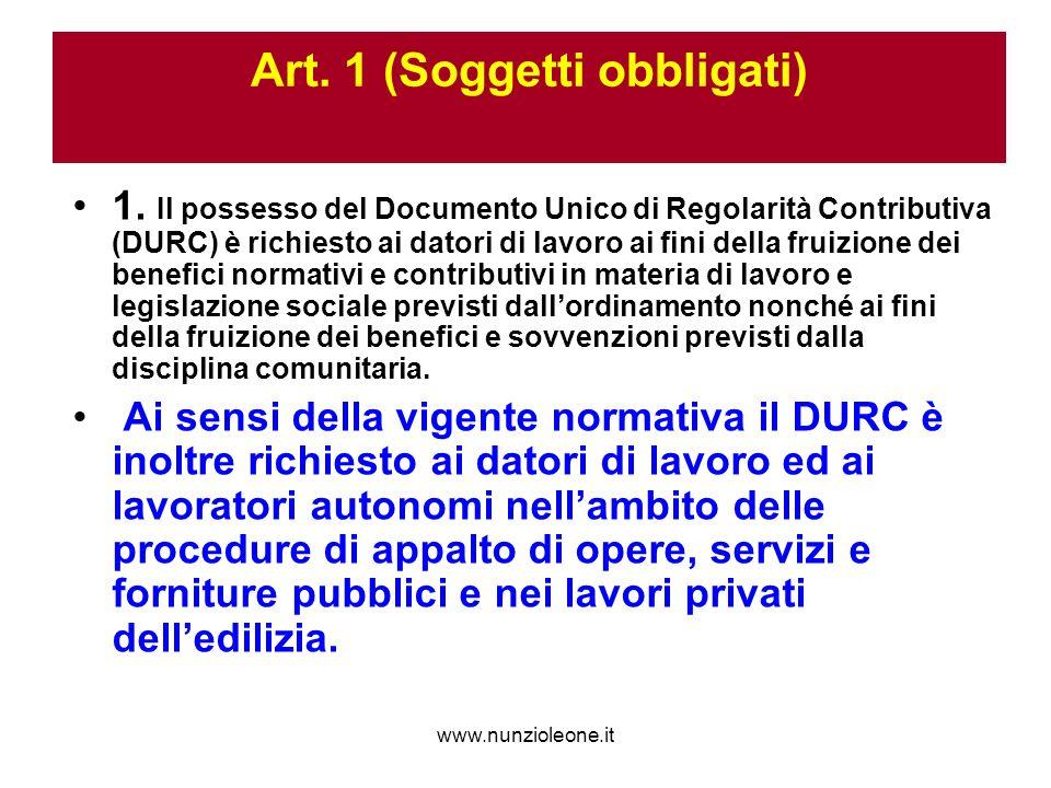 www.nunzioleone.it Art. 1 (Soggetti obbligati) 1.