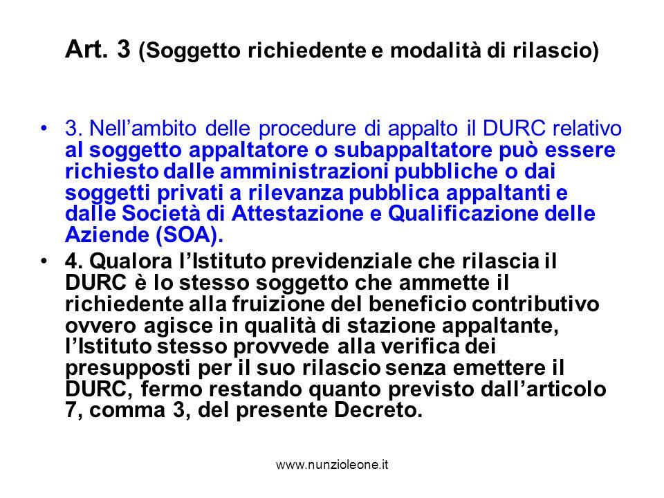 www.nunzioleone.it Art. 3 (Soggetto richiedente e modalità di rilascio) 3.