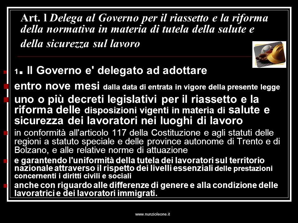 www.nunzioleone.it Dlgs 626 Art.7.Contratto di appalto o contratto d opera 2.