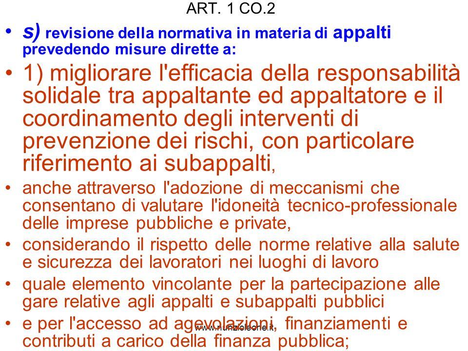 www.nunzioleone.it Art.5 (Requisiti di regolarità contributiva) 3.