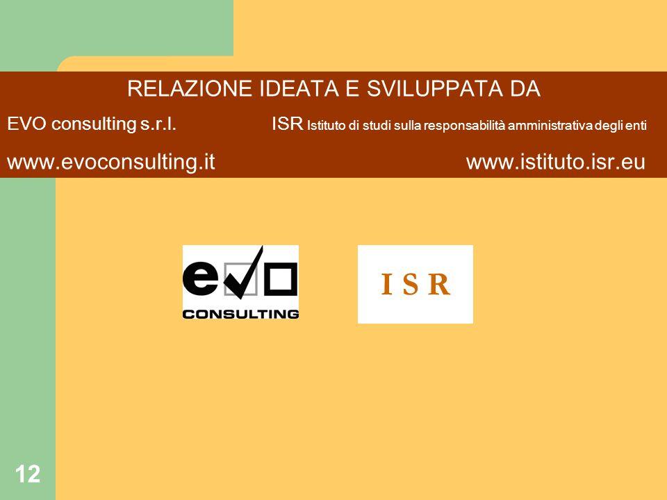 12 RELAZIONE IDEATA E SVILUPPATA DA EVO consulting s.r.l.